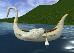 Small Swan boat